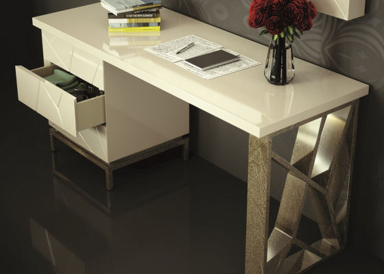 3-drawer lacquered desk. Mod. SABBA