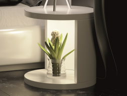Lacquered bedside tables with leds light. Mod. AYSEL
