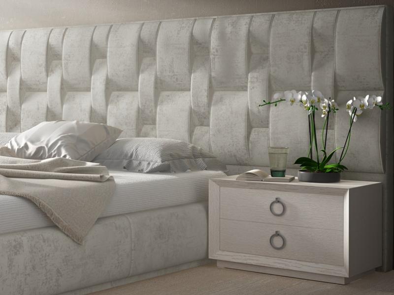 Complete upholstered bed. Mod. LALEH