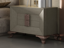 Oak bedside tables with Chippendale legs. Mod. DUNE