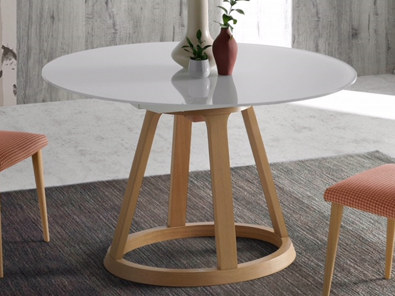 Extendable Round Dining Table Mod Jesca R