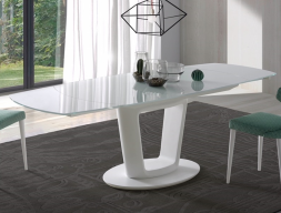 Extendable dining table . Mod. AGNES