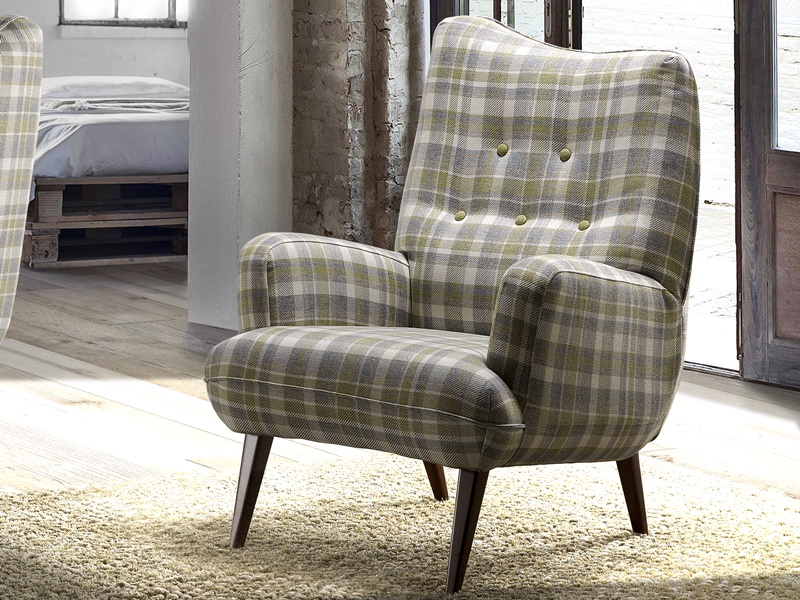 Upholstered armchair. Mod: BERLINO