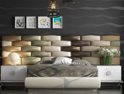 Complete upholstered bed. Mod. FADILA