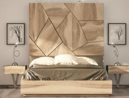 Complete oak bed. Mod. WINDSOR