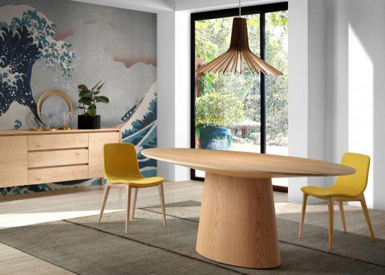 Oval dining table, mod: LEON OAK