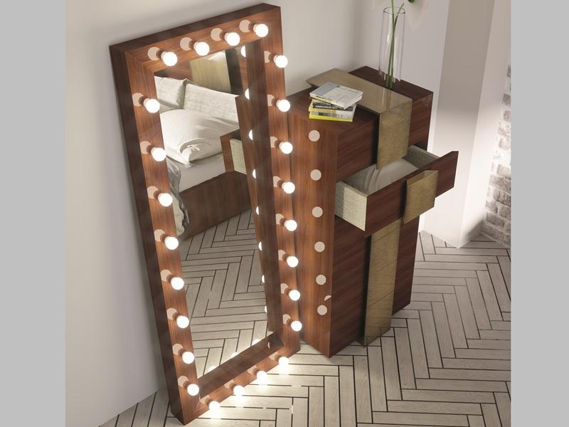 Dressing mirror with led lighting.Mod: STAR XXL