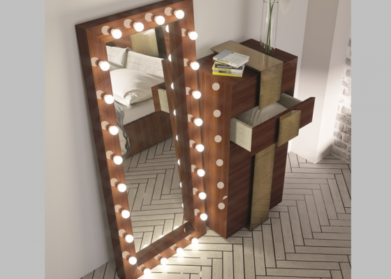 Dressing mirror with led lighting.Mod: STAR XXL