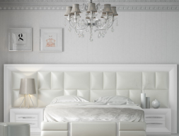 Large lacquered and upholstered headboard. Mod. AILEEN