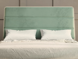 Lacquered and uphosltered headboard. Mod. MARIA