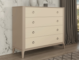 4-drawer lacquered dresser. Mod. MARIA