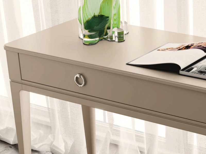 1-drawer lacquered vanity desk. Mod. MARIA