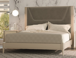 Lacquered and upholstered complete bed. Mod.  JOSEPHINE