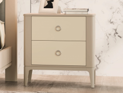 2-drawer lacquered bedside tables - set of  2 units. Mod. JOSEPHINE