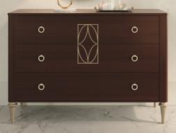 3-drawer wood dresser. Mod. TESA