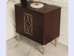 2-drawer wood bedside tables - set of  2 units. Mod. TESA