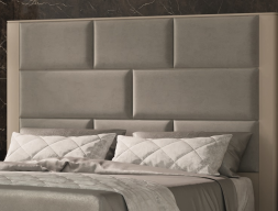 Lacquered and upholstered headboard. Mod. OLIVIA