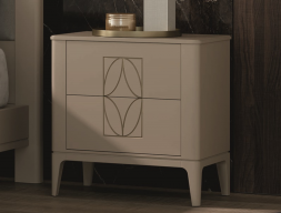2-drawer lacquered bedside tables - set of  2 units. Mod. OLIVIA
