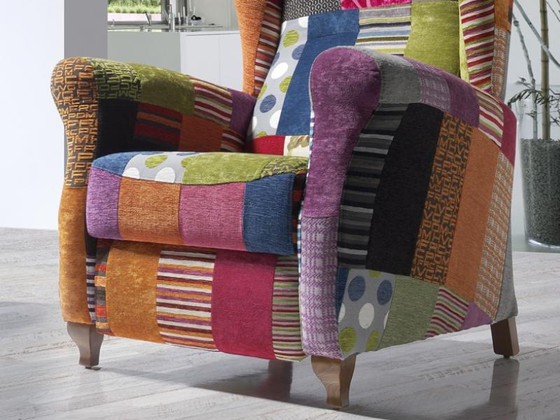 Relax armchair. Mod.ROMINA PATCHWORK