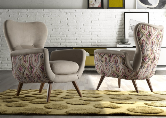 Upholstered armchair. Mod: VENECIA