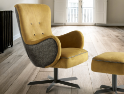 Swivel armchair. Mod. SONIA