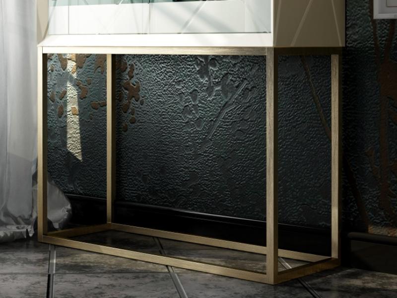 Design bar cabinet with glass doors. Mod. NAUGE