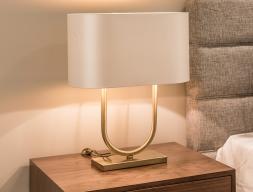 Bedside lamp in gold steel. Mod. FLAVIA