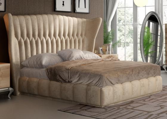 Upholstered complete bed.Mod: NOEMÍ