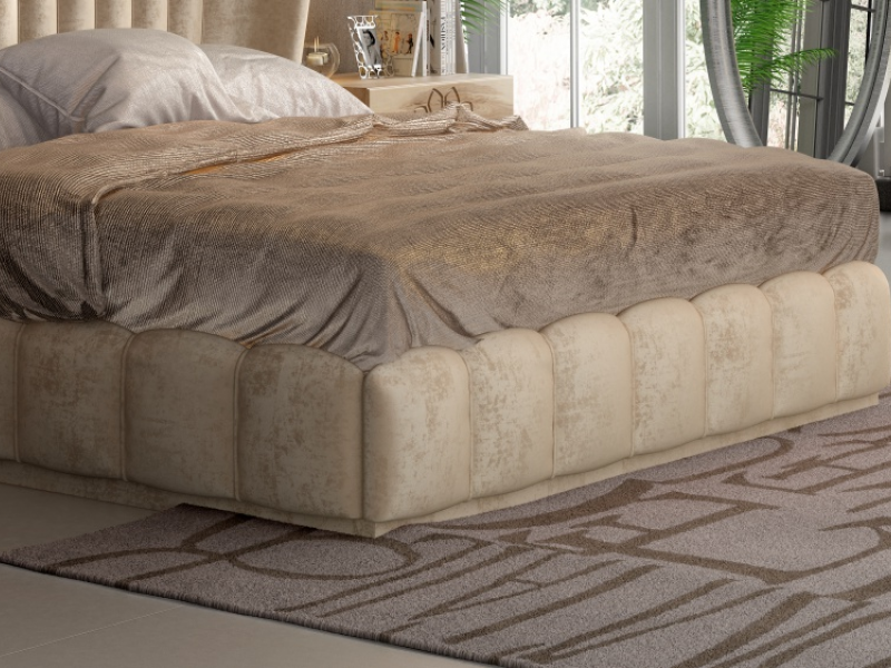 Upholstered complete bed.Mod: NOEM�