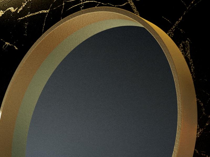 Round metallic mirror. Mod. CERVO