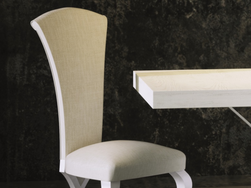 Set of 2 upholstered and lacquered chairs, mod: AVOLA