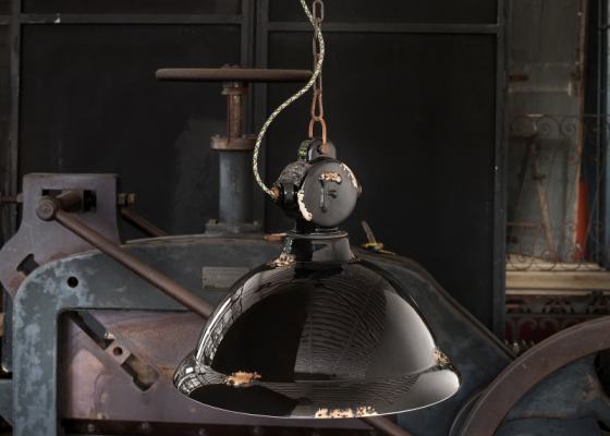 Ceramic ceiling lamp. Mod. INDUSTRIAL B