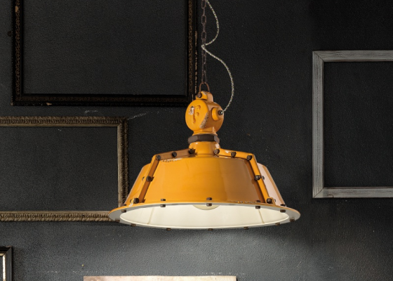 Ceramic ceiling lamp. Mod. INDUSTRIAL C