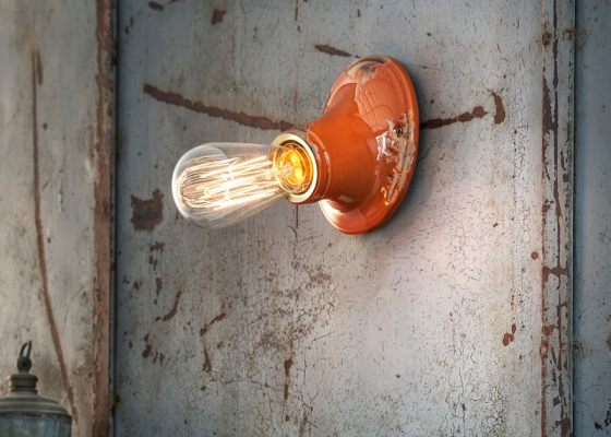 Ceramic wall lamp. Mod. INDUSTRIAL D