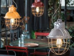Ceramic ceiling lamp. Mod. INDUSTRIAL F