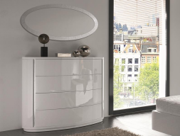 Curved  chest of 4 drawers.  Mod. AYLLON