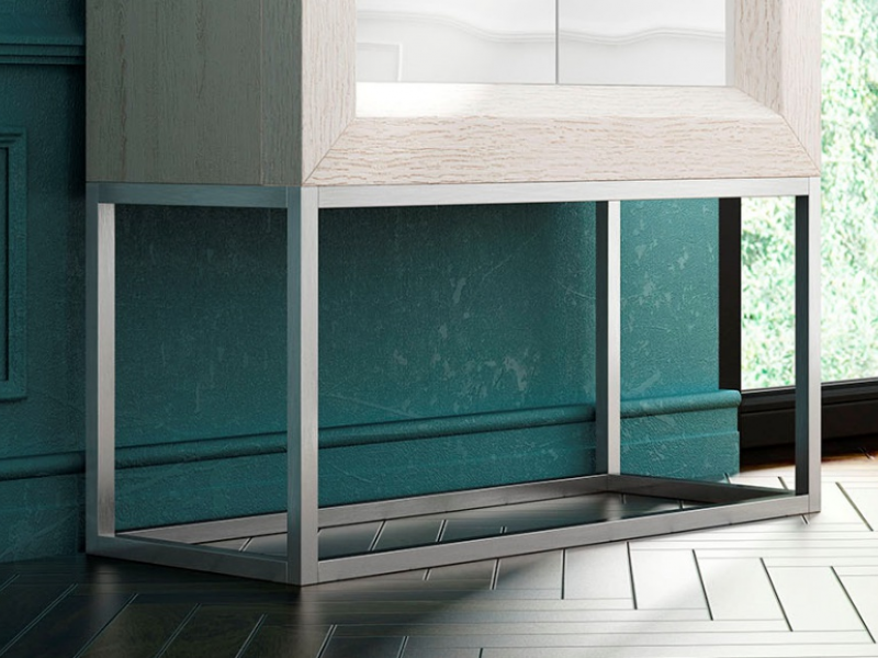 Design bar cabinet with lacquered doors. Mod. MELINA