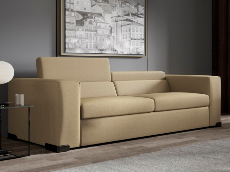 Sofa of straight lines with back bookcase. Mod. CHURCHILL