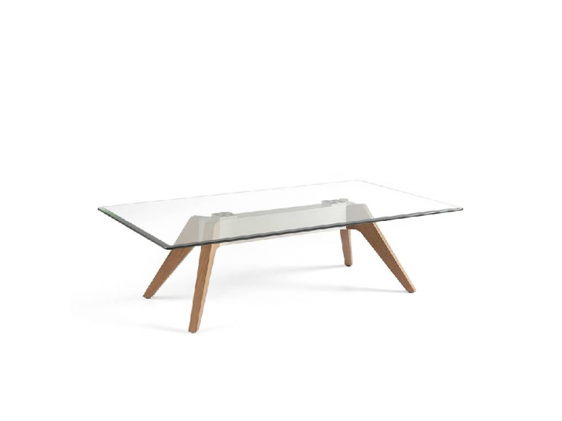 Coffee table with tempered glass table top. Mod: NOELIA