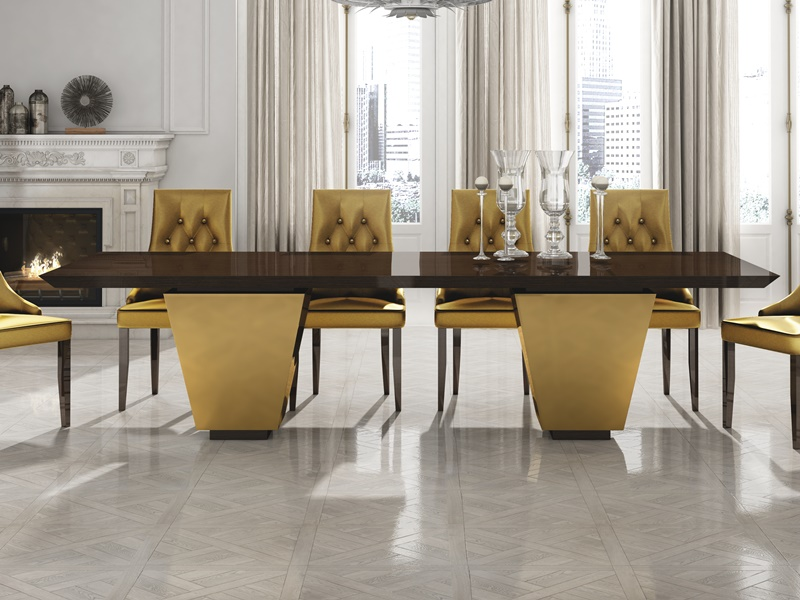 Fix lacquered dining table. Mod. LUXE