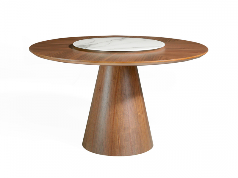 Round dining table with dumb waiter. Mod. GRACIA