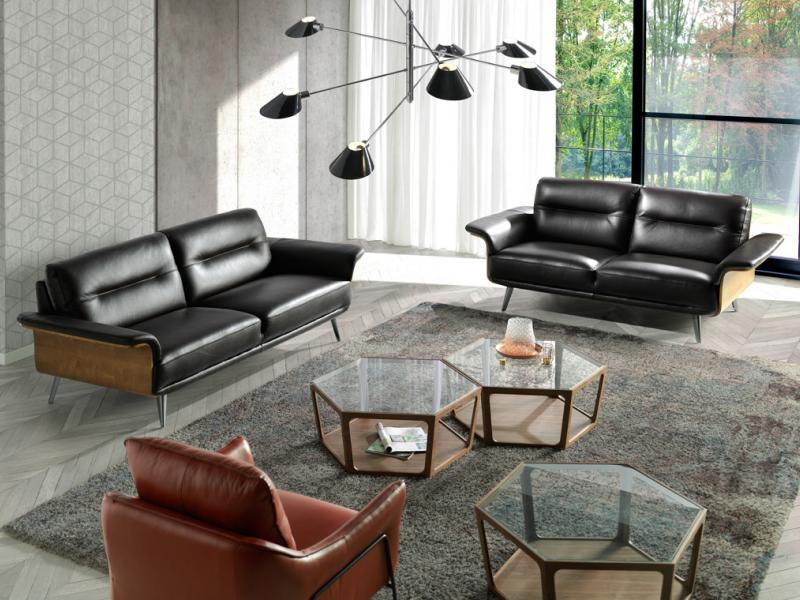 3 seater leather sofa. Mod. TIVOLI 3P