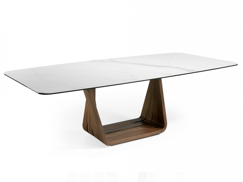 Dining table with ceramic marble top, mod: MILAN MARBLE