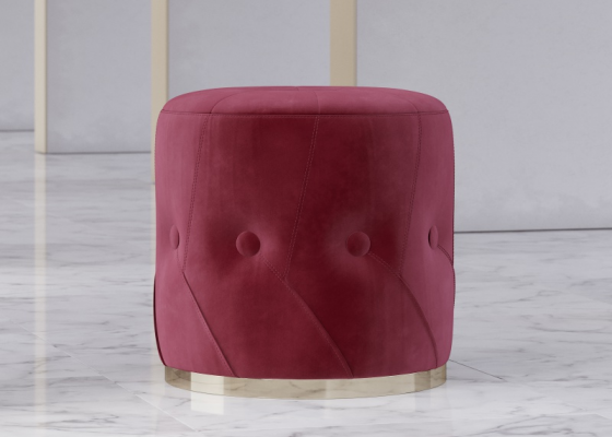 Design upholstered and padded pouf. Mod. NUBE