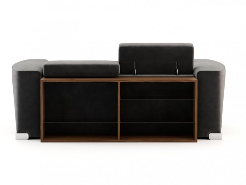 Design sofa with back bookcase. Mod. CHURCHILL 2p