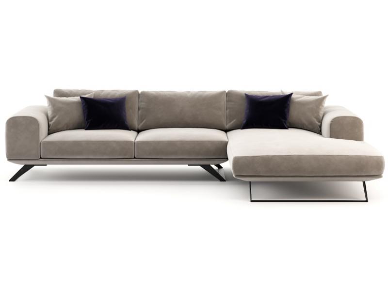 Design sofa with  chaise longue. Mod. VERONA