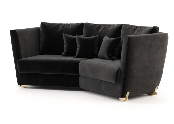 Design sofa with stainless steel legs. Mod. ARYANA 2P