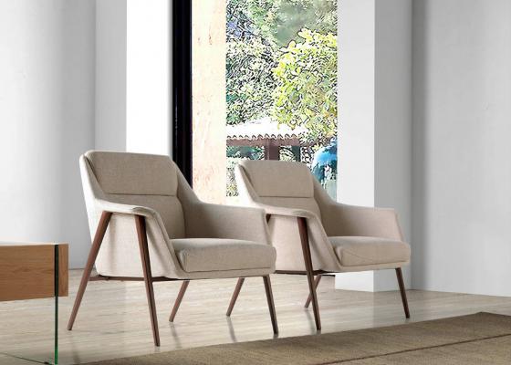 Upholstered armchair. Mod. PAULINE