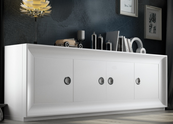 4-door lacquered sideboard. Mod. MELINA