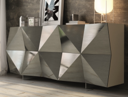Lacquered design sideboard. Mod DIAMANT